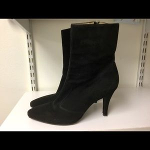 Charles Jourdan Paris black suede boots size 10